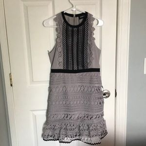 New Sugar Lips Sabrette mixed lace trim dress